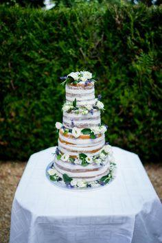 Wild berry wedding cake.