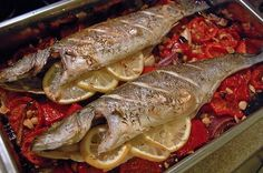 Baked Sea Bass For the recipe, please visit my blog. I will be waiting for you. http://stathiskitchenart.blogspot.com/2013/06/baked-sea-bass.html