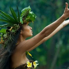 Tahitian dancer.