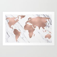Shop millions of designs for pink map gold prints and decorate your walls with original art by thousands of artists from around the world. Worldwide shipping available at Society6.com.