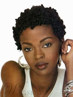 Super Glamorous African American Hairstyle Short Curly Black Full Lace Wig 100% Human Hair