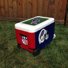 Buffalo Bills Gift Handpainted Cooler Formal Cooler Ideas, Delta Chi, Big Little, Buffalo Bills, Nfl, Hand Painted, Crafty, Gifts, Presents