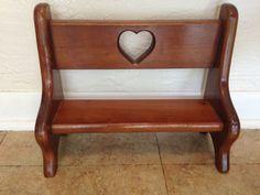 Heart Wood Doll Furniture Bench | eBay