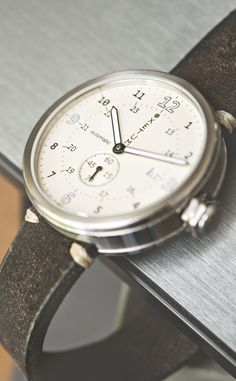 Xetum Men's Watch: Tyndall with off-white dial on @HODINKEE leather strap