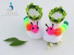 baby shoes caterpillar от Jipin на Etsy