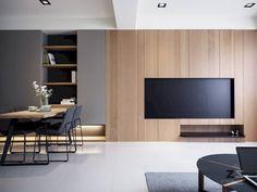 Ideas For Living Room Tv Wall Design Inspiration Living Room Tv, Living Room Interior, Home Interior Design, Home And Living, Interior Architecture, Modern Living, Dining Room, Modern Tv, Design Interiors