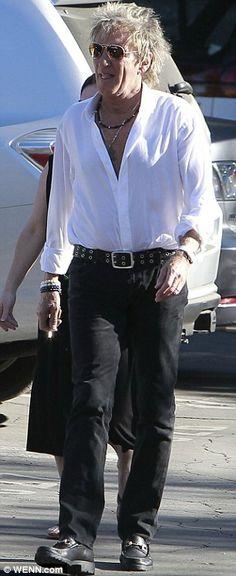 Rod+Stewart+with+His+Son+Liam | Do Ya Think I'm Sexy? Aging rocker Rod Stewart, 68, displays his chest ...