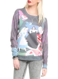 I would enjoy having this very much please thank you.  Disney Alice In Wonderland Croquet Pullover Top