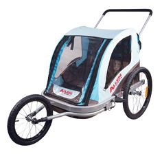 Baby Trend Navigator Double Jogger Stroller has four wheels.Front ...