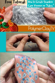 how to use polymer clay cane slices