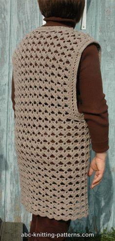 Free Crocheted Vest Pattern