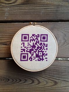 QR code cross stitch - Home Sweet Home on Etsy, $16.00