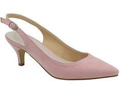 a819ccea36e Greatonu Womens Pointed Toe Slingback Dress Court Shoes  Amazon.co.uk  Shoes    Bags
