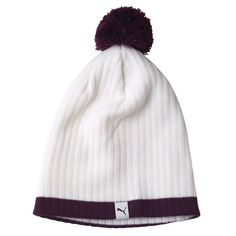 b0f2361378e1f Enjoy a great custom fit with this one size fits most womens pom golf  beanie hat by Puma!