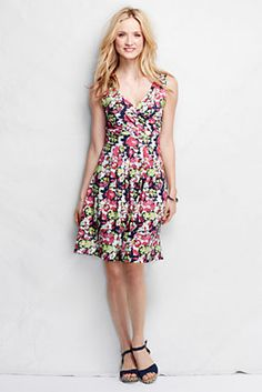 Women's Fit and Flare Dress - Print from Lands' End