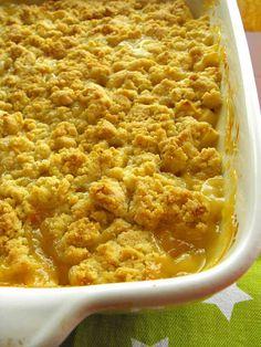 As receitas lá de casa: Crumble de maçã com curd de limão