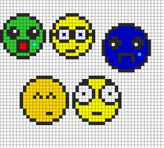 Faces V2 bead pattern