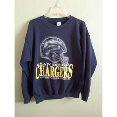 1994 San Diego Chargers National Football League Navy Blue Sweatshirt... (€20) ❤ liked on Polyvore featuring tops, hoodies, sweatshirts, navy blue sweatshirt, polyester sweatshirt, navy sweatshirt, nfl sweatshirts and cotton sweatshirts