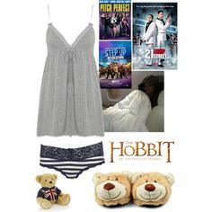 """movie night"" by caroline-lannoy on Polyvore"