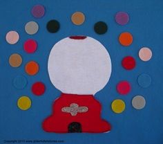 Counting with Gumballs Flannel Board Felt by GlitterfulStories