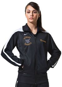 Add some warmth to this frigid winter week with a new warm up!   This Nike Mystifi jacket comes in a variety of color options and can be customized to show your team name and logo.   #Nike #travelsuit #basketball #softball #volleyball