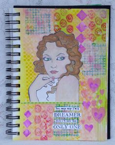 That's Blogging Crafty! - my Friday DT creation which is a mixed media art journal page with Carabelle Studio stamps