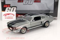 CK-Modelcars - 12909: Ford Shelby Mustang Eleanor Baujahr 1967 grau metallic / schwarz Hersteller: Greenlight Maßstab: 1:18 Fahrzeug: Ford Shelby Mustang Serie: Film Gone in 60 Seconds Baujahr: 1967 Artikelnummer: 12909 EAN 810166019576