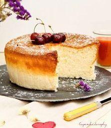 Pastel de queso esponjoso