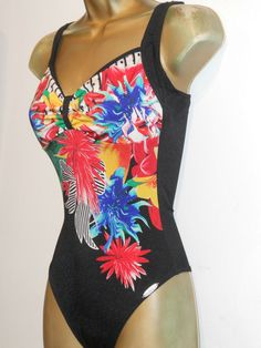 6bd55f7e344d6 LADIES BLACK   RED SUNFLAIR TROPICAL PRINT SWIMSUIT SIZE 34C SWIMWEAR   fashion  clothing  shoes  accessories  womensclothing  swimwear (ebay link)