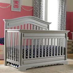 Venezia Convertible Crib in Mist Grey from PoshTots