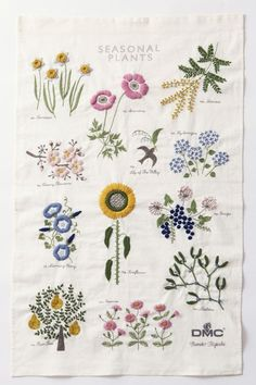 Herbs Embroidery. Can be embro #EmbroideryYumikoHiguchi