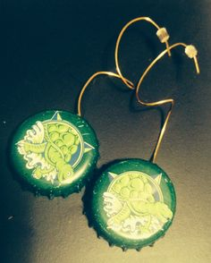 Terrapin Beerrings! Available in ear wires and fish hooks!! Www.thebeerringlimited.com