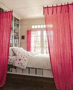 #21. Use curtains to separate spaces in small shared bedrooms! | 29 Sneaky Tips For Small Space Living