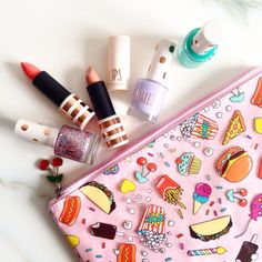 Claire's x katy perry pouch and topshop beauty turns 5, rose gold make over