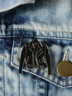 Leather Jacket Enamel Pin - Gypsy Warrior