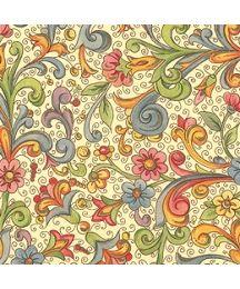 Petite Springtime Florentine Floral Print Paper ~ Kartos Italy