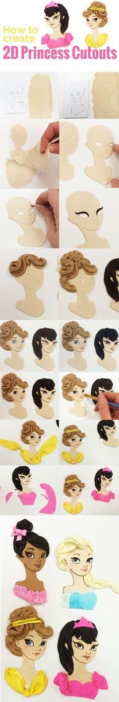 The theme for this cake decorating tutorial is princesses and covers painting with gel colors on fondant, making hair textures and draping to resemble fabric. I also talk a little about my process of creating new designs for the 3D printed cutters we use