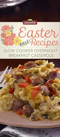 Wake up relaxed, refreshed and ready to eat with this Slow Cooker Overnight Breakfast Casserole. Your favorite Breakfast ingredients simmer overnight in the slow cooker while you sleep.