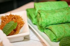 Kueh Dadar (Nyonya coconut pancake) recipe