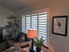 Shutters are timeless and elegant. They also come in a variety of colors to add contrast or to match the woodwork in your home.