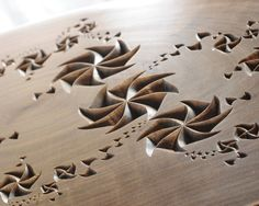 Fractal Abstract Carved Wood Plaque by krtwood on Etsy, $250.00