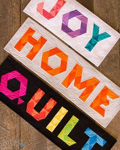 I'm so excited to share my latest book with you! I'm pleased to introduce Alphabet Soup! Jaybird Quilts, Strip Quilts, Mini Quilts, Paper Piecing Patterns, Quilt Block Patterns, Quilt Blocks, Alphabet Quilt, Alphabet Soup, Small Alphabets