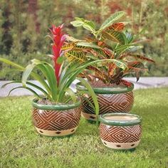 Adamsdale Ceramic Pot Planter Set Color: Jade The Effective Pictures We Offer You About upcycled Garden Planters A quality picture can tell you many things. Metal Wall Planters, Wooden Planter Boxes, Window Planter Boxes, Ceramic Planters, Plastic Pots, Self Watering, Pot Sets, Flower Pots, 3 Piece