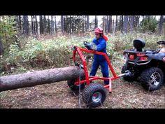 ATV LOG HAULER - YouTube