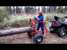 ATV LOG HAULER - YouTube