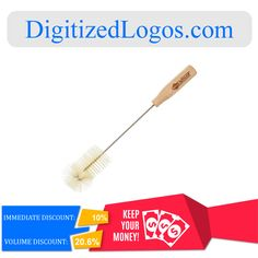 Get the Native Wooden Bottle Brush at only $4.52 instead of $5.02 plus more discount on volume purchase! Please visit DigitizedLogos.com for more information and inquiry. #DigitizedLogos #PromotionalItem #Discount #Sale #Offer #Wooden #Bottle #Brush