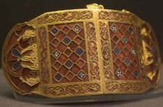 The Sutton Hoo shoulder clasp, worn by a high ranking Anglo-Saxon noble