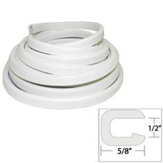 TACO Flexible Vinyl Trim - ½ Opening x ⅝W x 25L - White