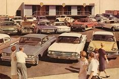 A-OK Used cars! - My old classic car collection Nostalgic Pictures, Vintage Pictures, Car Photos, Car Pictures, Used Car Lots, Old American Cars, Retro Advertising, Old Classic Cars, Us Cars