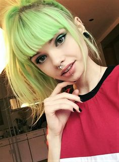 Aurora Green hair dye by lol.ivi - #haircolor #hairdye #hairstyle #greenhair